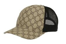 NEW GUCCI CURRENT GG SUPREME  ADJUSTABLE CLOSURE BASEBALL CAP HAT 57/S SMALL