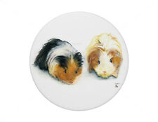 Two Guinea Pigs pin badge 7.7cm diameter