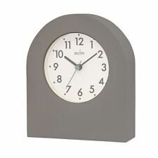 Acctim Brondby Arch Table Clock in Pigeon Grey and White Dial