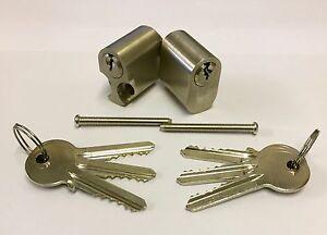 6 Pin Scandinavian Oval Cylinder Pair Keyed Alike With 6 Keys