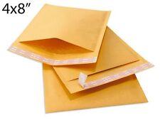 250 pcs #000 4x8 Kraft Bubble Envelopes Mailers 4 X 8 (Inner 4x7)