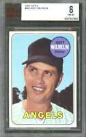 1969 topps #565 HOYT WILHELM los angeles angels BGS BVG 8