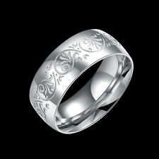 Man and woman 316L fashion pattern titanium steel men's steel ring size8 #006