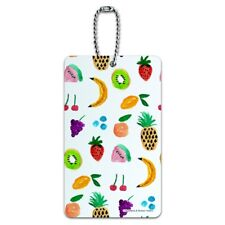 Tiny Fruits Bananas Cherries Grapes Kiwi Pineapples Luggage Card Carry-On ID Tag