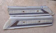 73 - 74  BUICK  REGAL  WHITE  LEFT & RIGHT  INTERIOR  UPPER  DOOR  PANELS