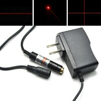 650nm 5mW Red Dot Line Cross Long-time Focusable Laser Diode Module + 5V Adapter