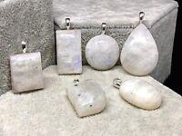 Colgante Piedra de Luna 100% Natural. Plata 1ª Ley .925 Nuevo.