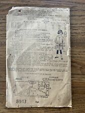 Vintage Woman's World Sewing Pattern Children's Dress 8043 Antique Flapper