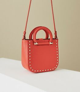 REISS MAYFAIR  MINI LEATHER TOTE Red RRP£195