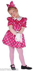 50er Jahre Kleid Kostüm Minny Micky Maus Kinder Mauskostüm Rock n Roll