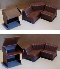 Mobilier miniature poupée JEAN GERMANY salon vintage doll furniture lounge
