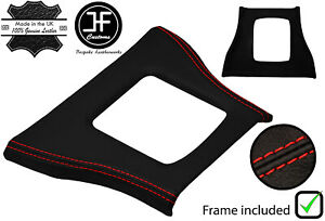 RED STITCH LEATHER SHIFT SURROUND BASE FRAME FOR FORD THUNDERBIRD 84-88