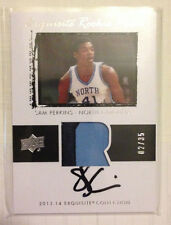 Sam Perkins 2013-14 UD Exquisite Rookie UNC 2 color Patch on-card Auto #'d 2/35