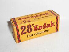Unused Kodak Film Boxed 28° 8 Ex 2 1/2x4 1/4 In. VII6 Verchrome 1942
