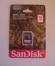 SanDisk®SDHC™ Card 16GB Pictures / Videos Mossy Oak Break-Up Country Sealed Pack