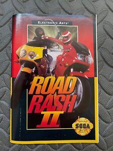 Road Rash II (2) Sega Genesis Instruction Manual Booklet ONLY Original (NO GAME)