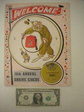 Shrine Circus Program Souvenir No. 4323 1965 VERY RARE Irem Temple, PA