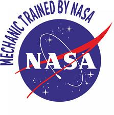 Beta or Snap On Tool Box Garage Sticker Workshop Mechanic NASA Trained Mechanic