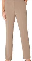 EX STORE Ladies Womens Brown Ivory Pinstripe Lightweight Trousers Size 14 16 18