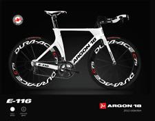 White Carbon Fiber Bike Argon 18 E116 TRI Frameset Size M Never Riden or Used