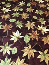 Shades of Autumn leaves with gold cotton Fabric per yd quilt / sew P&B Textiles