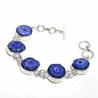 Solar Quartz Druzy Ethnic Jewelry Handmade Bracelet 27 Gms BB-596
