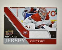 2020-21 UD Series 1 Game Jersey Relic #GJ-CP Carey Price  - Montreal Canadiens