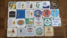 NICE!! Lot of 23 Vintage Soft square Paper Coasters Beer/Ale/Pub Advertising (1)