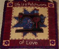 "Funky Folk Art DIMENSIONS KIT Applique FELTWORKS ""LIFE IS A PATCHWORK"" UNOPENED!"