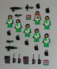 LEGO Minifigures 7 Space Marines Army Blasters Space Police Minifigs Guys Halo