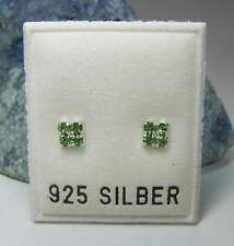 NEU 925 Silber 4mm OHRSTECKER 2mm SWAROVSKI STEINE peridot/grün OHRRINGE