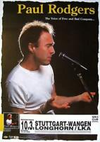 """PAUL RODGERS TOUR POSTER """"NOW TOUR""""  FREE / BAD COMPANY"""