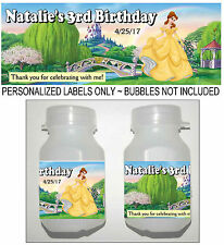 30 PRINCESS BELLE BEAUTY AND THE BEAST BIRTHDAY PARTY FAVORS BUBBLE LABELS