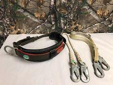Buckingham Pole Climbing Lineman Safety Belt | Size-M + Buckingham Rope & Strap