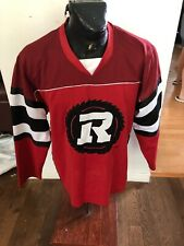 MENS XLarge Football Long Sleeve Jersey  Shirt CFL Ottawa Redblacks