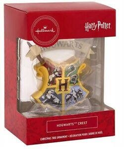 Hallmark Christmas Ornament Harry Potter Hogwarts Crest Bauble Boxed Gift UK