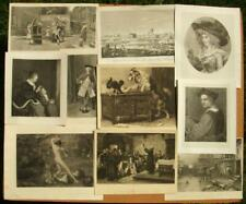 10 x antique collectors, decorators lot engravings, etchings, prints 1870-1920's