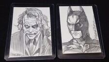 Batman & Joker Dark Knight sketch card set by RANDY MARTINEZ