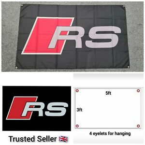 Audi RS Workshop Garage Banner Flag Mancave RS3 RS4 RS5 RS6 RS7 S3 S4 S5 S7 TTRS