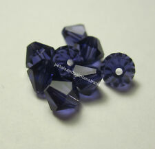8 New Genuine Swarovski Purple Bicone #5301 Beads 6mm for Jewellery