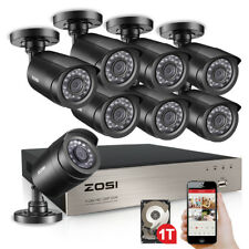 ZOSI 8CH 1080p HDMI DVR 720p Outdoor CCTV Home Security Camera System 1TB HDD