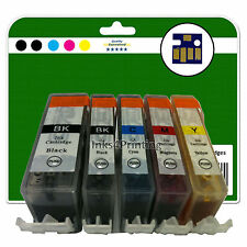 Any 5 Ink Cartridges for Canon Pixma MP540 MP550 MP560 MP620 non-OEM 520/521