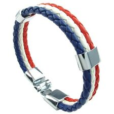 pulsera de joyeria, brazalete francesa, hombres mujeres, blanco rojo azul Z3P5