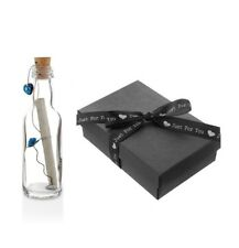 1st First Paper Wedding Anniversary Gift PERSONALISED Message in a Bottle BOXED