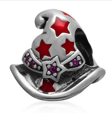 Authentic.925 Solid Sterling European Charm Fit PAN BRACELET WITCHES HAT