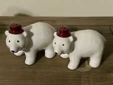2017 Target Polar Bear With Hat/Salt and Pepper Shakers With Stoppers