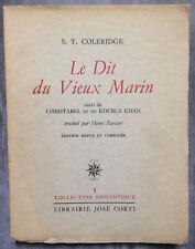 Le Dit du Vieux Marin Par S.T. Coleridge suivi de Christabel et de Koubla Khan