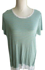 Style&Co Womens Plus Striped Handerchief Shirt Top Green Nectar Size 0X
