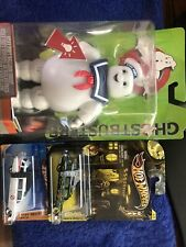 Ghostbusters 2016 Stay Puft Marshmallow Man Hot wheels Ecto 1 Halloween Lot