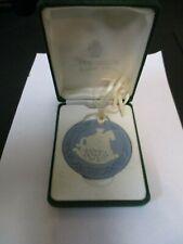 Wedgwood Blue Jasperware Rocking Horse Christmas Ornament